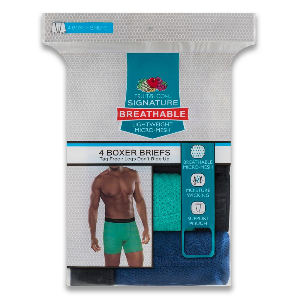 Men's Fruit of the Loom Signature 4-pack Micromesh Breathable Boxer Briefs