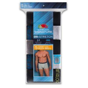 Men's Fruit of the Loom Signature 5-pack Dri-Stretch Short-Leg Boxer Briefs