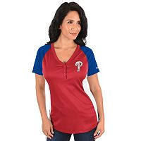Plus Size Majestic Philadelphia Phillies League Diva Tee