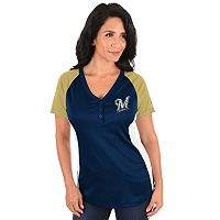 Plus Size Majestic Milwaukee Brewers League Diva Tee