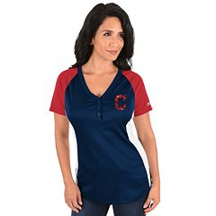 Plus Size Majestic Cleveland Indians League Diva Tee