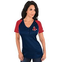 Plus Size Majestic Boston Red Sox League Diva Tee