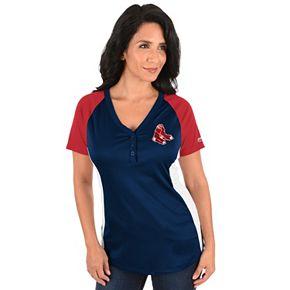 Plus Size Majestic Boston Red Sox League Diva Tee