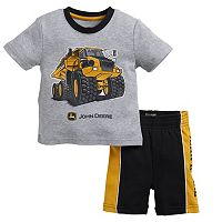 Baby Boy John Deere Dump Truck Graphic Tee & Shorts Set
