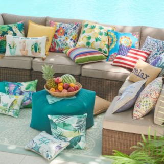 SONOMA Goods for Life™ 2-piece Indoor Outdoor Reversible Deep Seat Cushion Set
