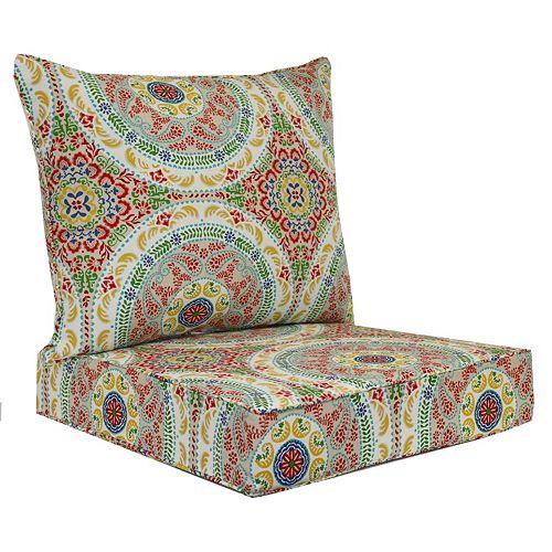 Patio Chair Pads Cushions Decorative Pillows Chair Pads – 2 Piece Outdoor Chair Cushions