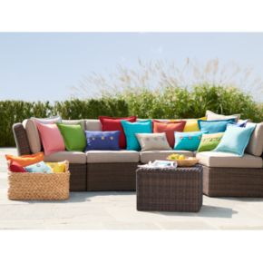 SONOMA Goods for Life™ 2-piece Indoor Outdoor Reversible ''U'' Chair Cushion Set