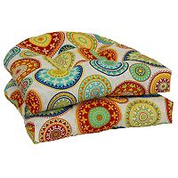 SONOMA Goods for Life™ 2 pc Indoor Outdoor Reversible ''U'' Chair Cushion Set