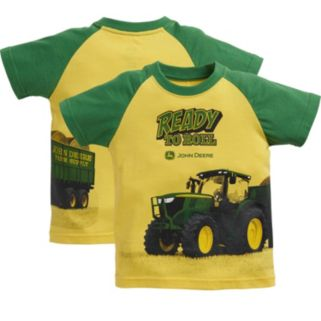 "Baby Boy John Deere ""Ready To Roll"" Tractor Graphic Tee"