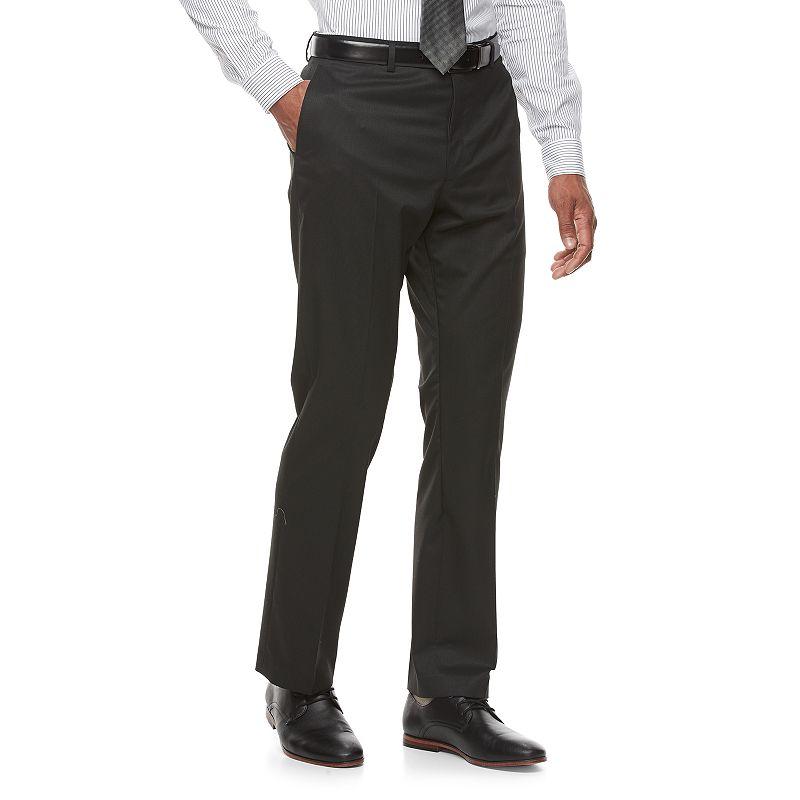 Men's Apt. 9 Slim-Fit Stretch Flat-Front Suit Pants, Size: 33X32, Black