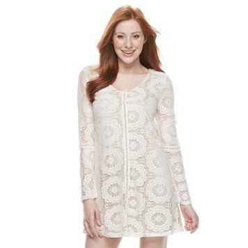 Juniors' Speechless Crochet Lace Shift Dress