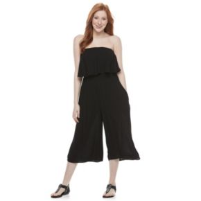 Juniors' Speechless Popover Sleeveless Gaucho Jumpsuit