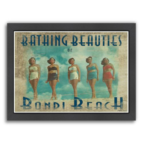 "Americanflat ""Bathing Beauties Of Bondi Beach"" Framed Wall Art"