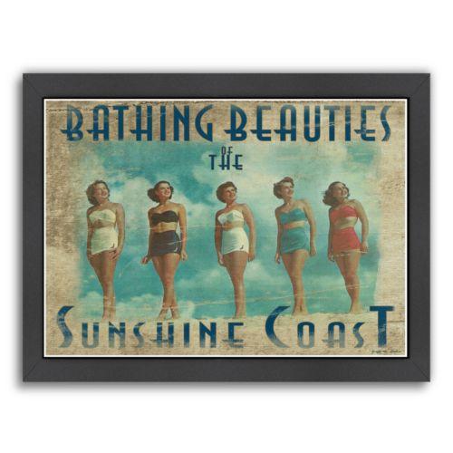 "Americanflat ""Bathing Beauties The Sunshine Coast"" Framed Wall Art"