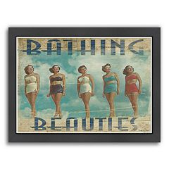Americanflat 'Bathing Beauties' Framed Wall Art