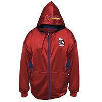 Big & Tall Majestic St. Louis Cardinals Fleece Full-Zip Hoodie