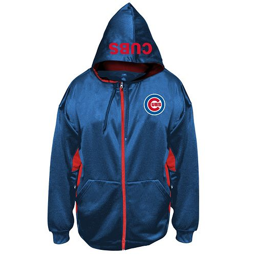 Big & Tall Majestic Chicago Cubs Fleece Full-Zip Hoodie
