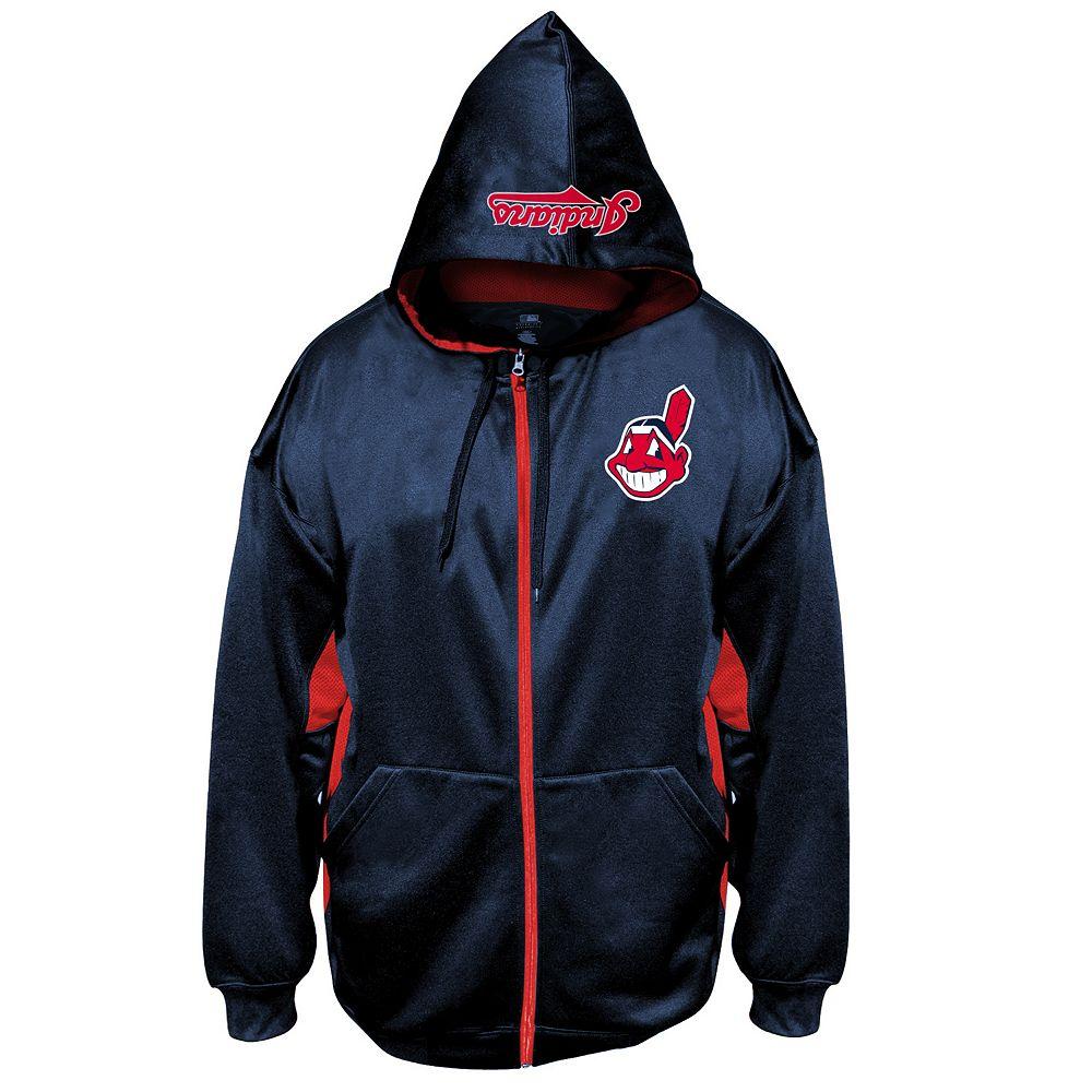 huge selection of bd0ff 49080 Big & Tall Majestic Cleveland Indians Fleece Full-Zip Hoodie