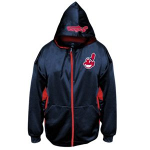 Big & Tall Majestic Cleveland Indians Fleece Full-Zip Hoodie