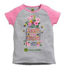 Girls 4-6x John Deere Raglan 'Sunsets and Fireflies' Graphic Tee