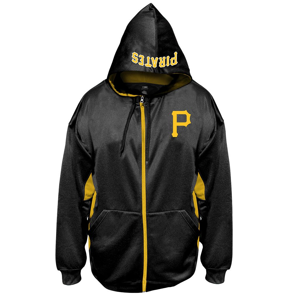 Big & Tall Majestic Pittsburgh Pirates Fleece Full-Zip Hoodie