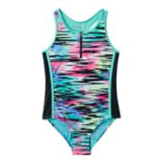 Girls 7-16 Free Country Front Zip One-Piece Swimsuit