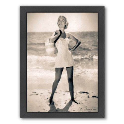 Americanflat Beach Tote Required Framed Wall Art