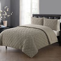 VCNY Lattice Embossed Duvet Cover Set