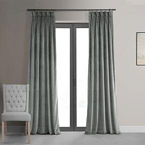EFF Blackout 1-Panel Velvet Window Curtain