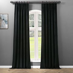 EFF Blackout 1-Panel Velvet Window Curtain