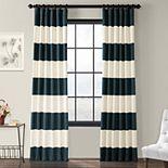 EFF 1-Panel Stripe Cotton Window Curtain