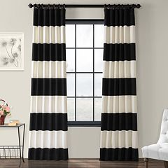 EFF 1-Panel Stripe Cotton Window Curtain