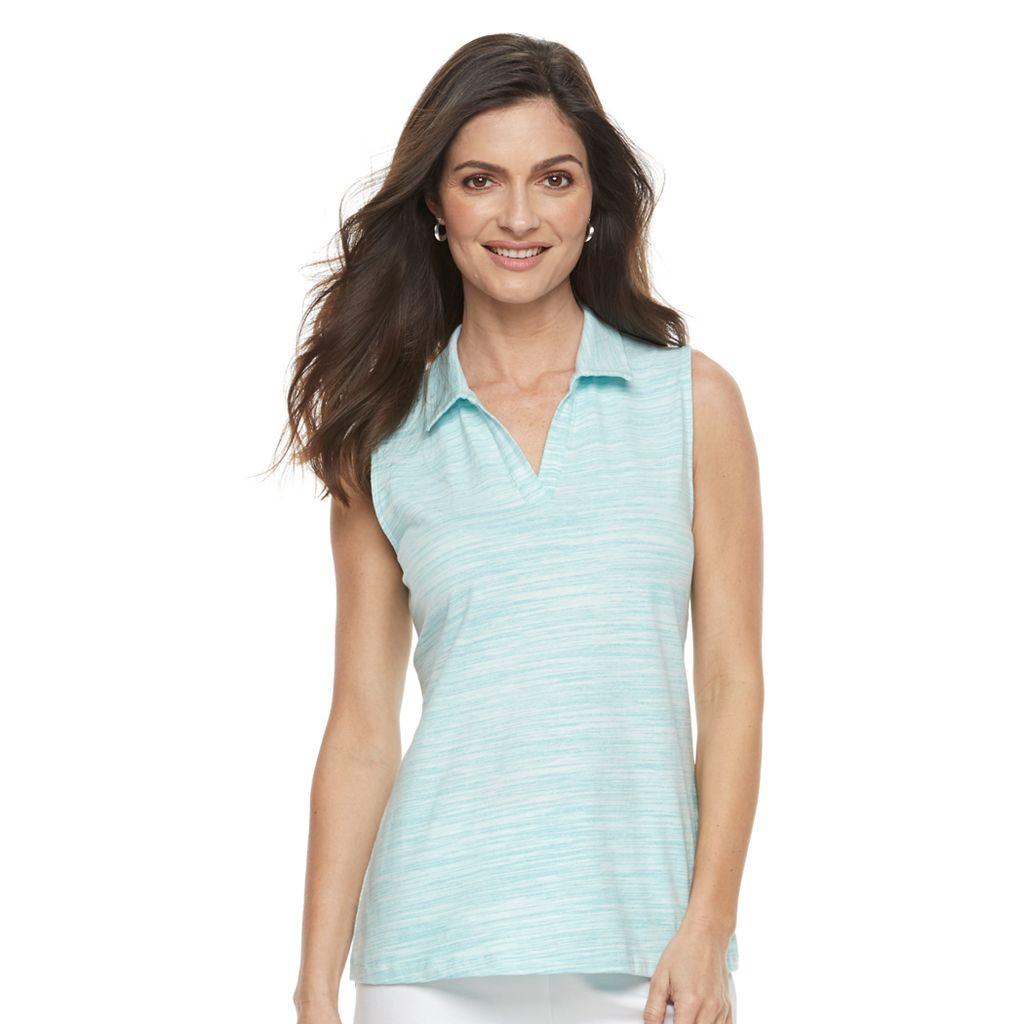 Women's Croft & Barrow® Sleeveless Polo