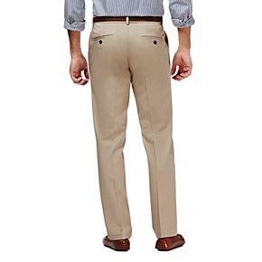 Men?s Haggar® Premium No-Iron Khaki Super Flex Waist Straight-Fit Stretch Flat-Front Pants