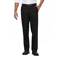 Men's Haggar Premium No Iron Khaki Stretch Straight-Fit Flat-Front Pants
