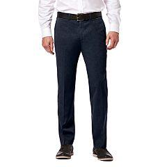 Men's Haggar® Premium No-Iron Khaki Super Flex Waist Straight-Fit Stretch Flat-Front Pants