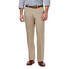 Men's Haggar® Premium No-Iron Khaki Super Flex Waist Straight-Fit Stretch Flat-Front Pants