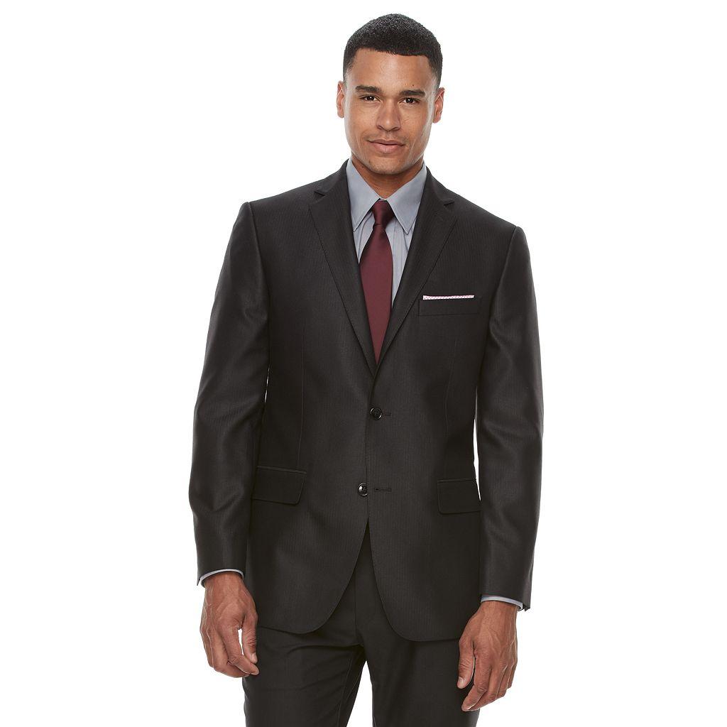 Men's Apt. 9® Premier Flex Slim-Fit Herringbone Black Suit Jacket