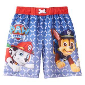 Boys 4-7 Paw Patrol Marshall, Chase & Rubble Swim Trunks