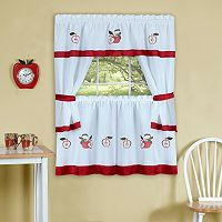 Achim Gala Tier Kitchen Window Curtain Set