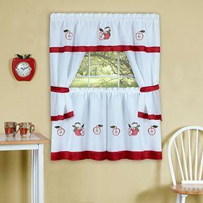 Achim Gala Tier Kitchen Window Curtain Set