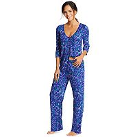 Women's Maidenform Pajamas: Button-Front Top & Pants PJ Set