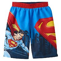 Toddler Boy DC Comics Superman Swim Trunks