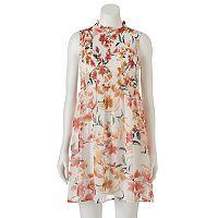 Juniors' Lily Rose Floral Mockneck Dress