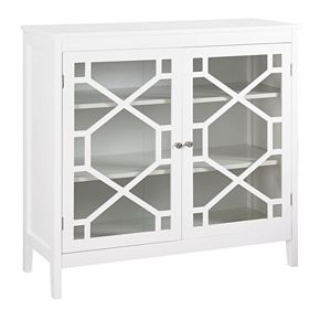 Linon Geometric 2-Door Storage Cabinet
