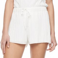 Juniors' Jolie Vie Textured Shortie Shorts
