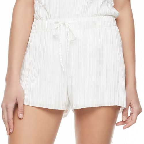 Juniors' Jolie Vie Textured Shortie Shorts