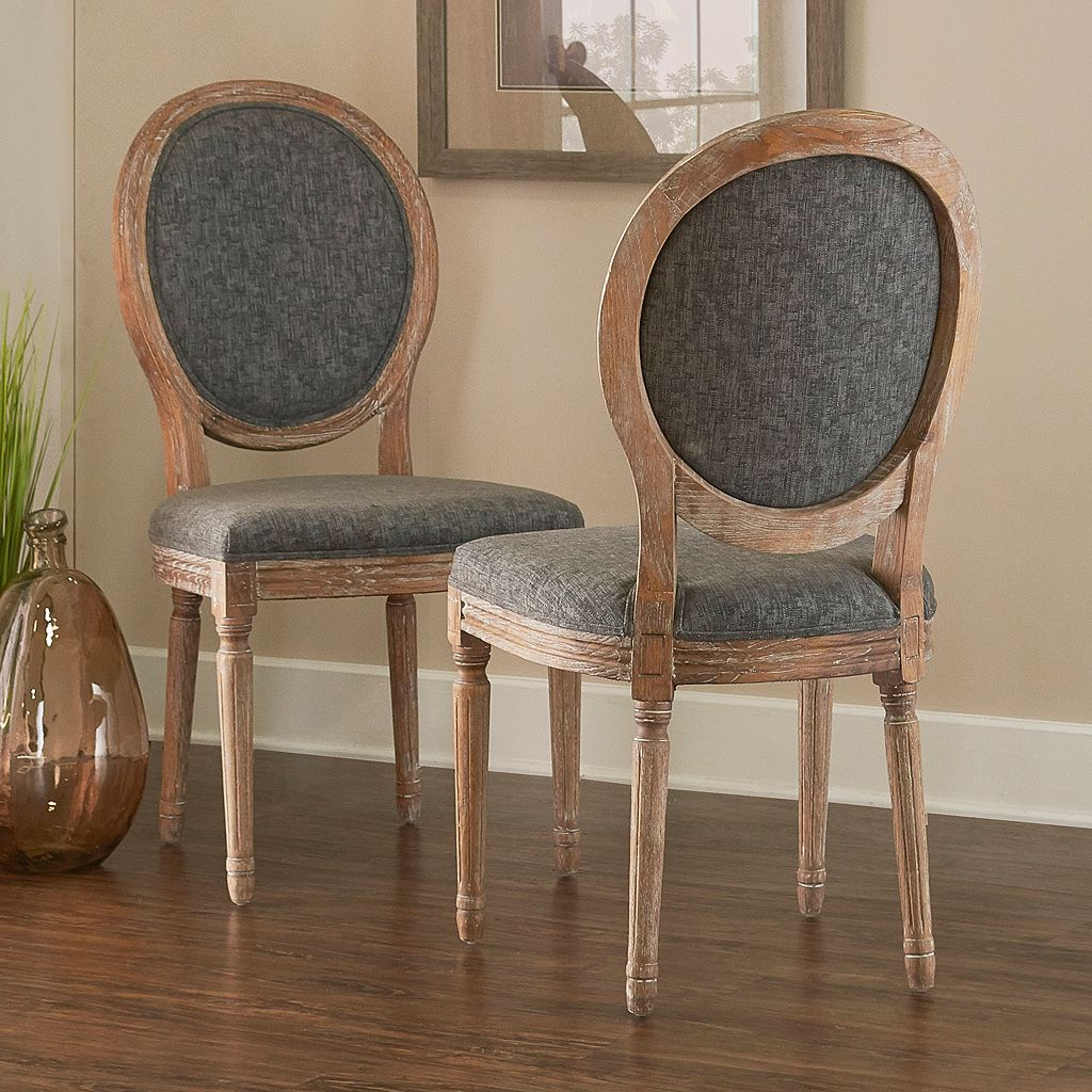 Linon Manchester Oval Back Accent Chair 2-piece Set