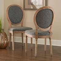 Linon Manchester Oval Back Accent Chair 2 pc Set