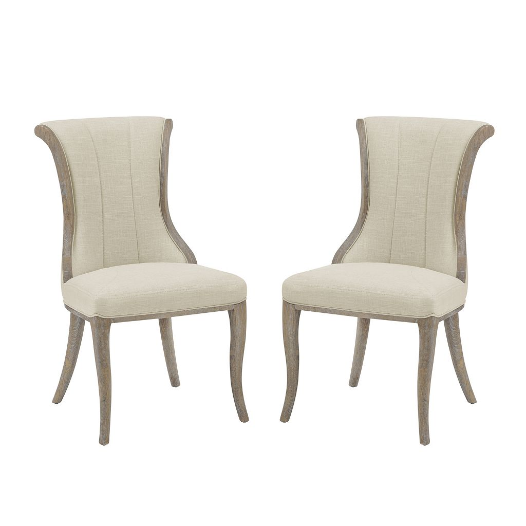 Linon Sheffield Flared Back Accent Chair 2-piece Set
